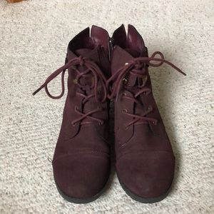 Madden Girl Maroon Boots